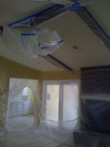 Ceiling Prepared For Popcorn Texture Removal
